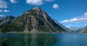 Přehrada Lago di Livigno v létě