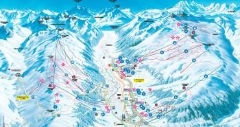 Lyžařská mapa Livigno