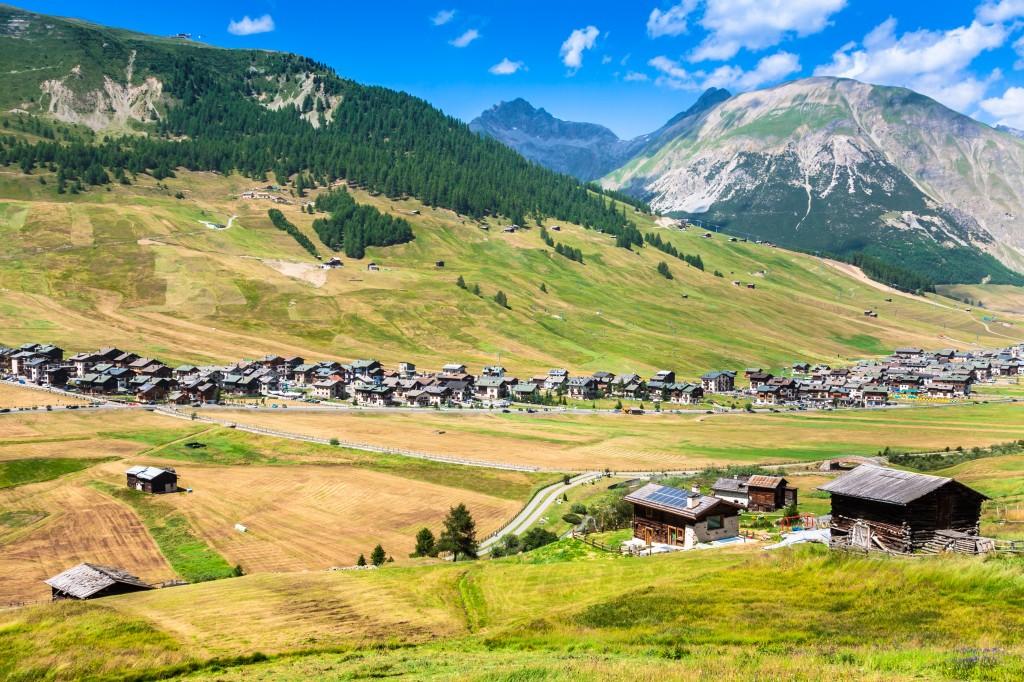 Letní pohled na Livigno