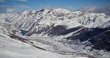 Zimní pohled na Livigno