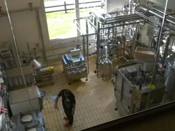 Mlékárna v Livignu - zpracování mléka